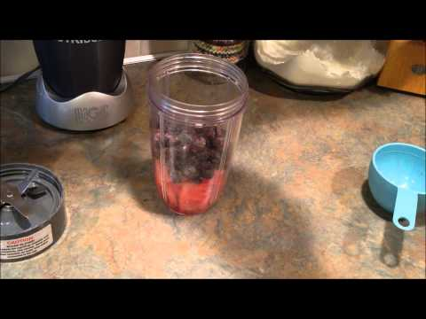 Refreshing Watermelon Blueberry Smoothie - Nutribullet or Blender