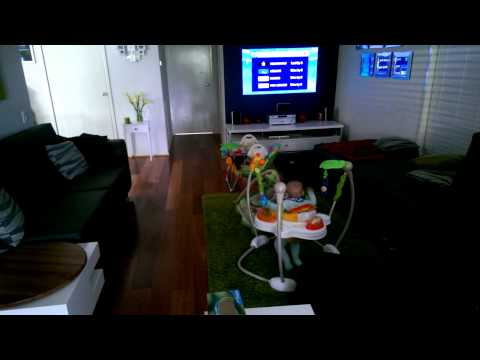 Funny Baby jumps to Sound of NutriBullet blender