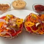 Raw Vegan Pizza with Sauce and Cheese