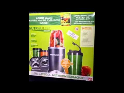 nutri bullet 15 piece blender with the healthy green drink diet book - reviews 2014