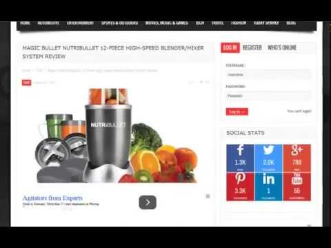 New Magic Bullet NutriBullet 12-Piece High-Speed Blender/Mixer S (New)