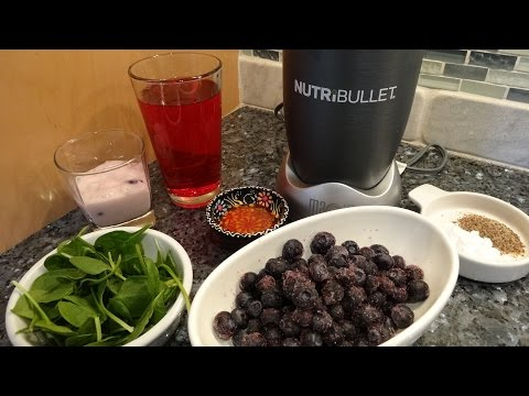 NutriBullet Healthy Smoothie Blueberry Cranberry Protein Recipe