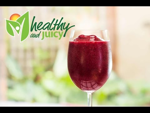 Healthy and Juicy Berry sorbet