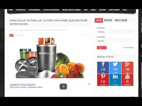 Get Magic Bullet NutriBullet 12-Piece High-Speed Blender/Mixer S (top)