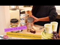 Nutribullet Recipes -Banana & Dates Smoothie with Flaxseed (Protein Shake)
