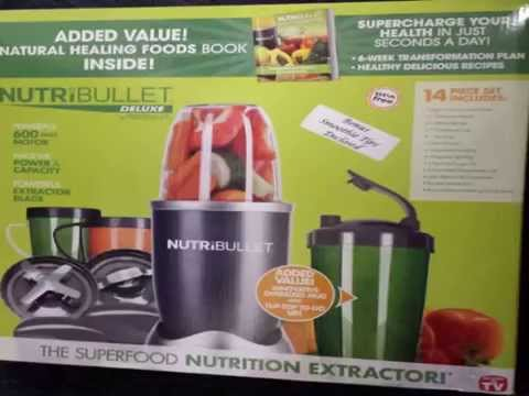 Nutri Bullet 15 Piece Blender - With The Green Smoothie Bible Book (300 Deliciou