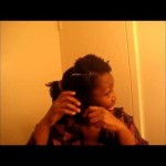 4C Natural Hair…….Night Time Prep and Twist Out